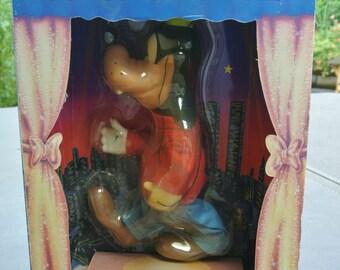 Vintage Puppet, Original Box, 1990  Helm Toy Co., Goofy Marionette