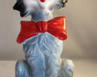 Vintaghe Gray Cat Figurine