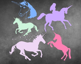 Unicorn Clip Art - Unicorn Clipart, Clip Art Unicorn, Clipart Unicorn, Unicorn Silhouette, Unicorn Graphics, Unicorn Image, Unicorns, PNG