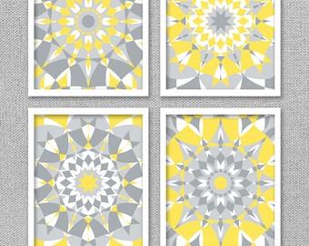 Yellow and Gray Wall Art, Printable Art, Printable Wall Art, Yellow and Gray Wall Decor, Printable Artwork, Instant Download Art, Art Prints