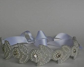 Bridal Headband. Pearl Headband. Fancy Headband.