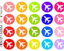 20 Airplane Travel Planner Stickers