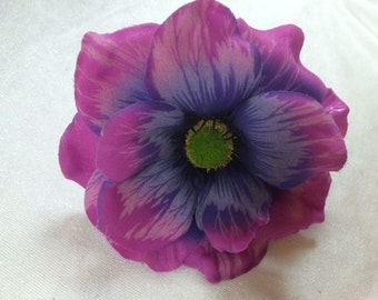 Jumbo Purple Silk Flower Beautiful Purple Flower Craft Flowers Artificial Flower Fake Flower Wedding Flower Hat Embellishments