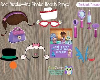 Doc Mcstuffins Photo Booth Props, Doc Mcstuffins Birthday, Doc Mcstuffins Party, Doc Mcstuffins Props, Doc Mcstuffin Photo Booth Props