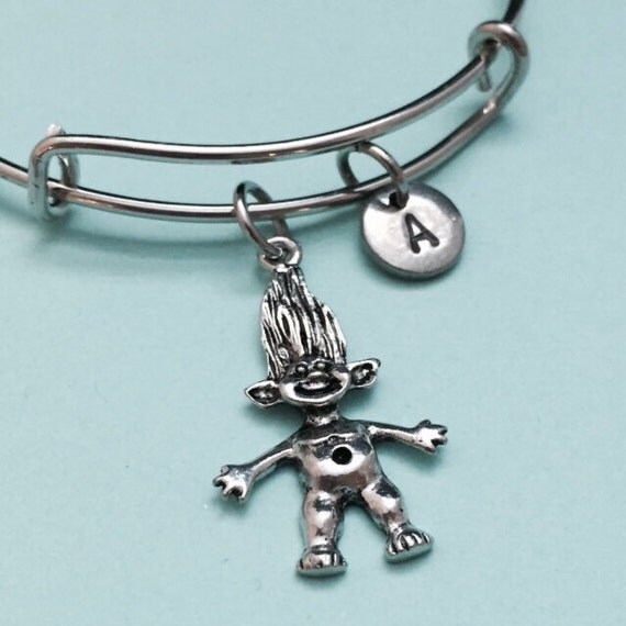 troll bangle troll charm bracelet expandable bangle charm