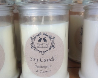 Apothecary Cotton Wick Soy Candle - Large (50 hours burning time)