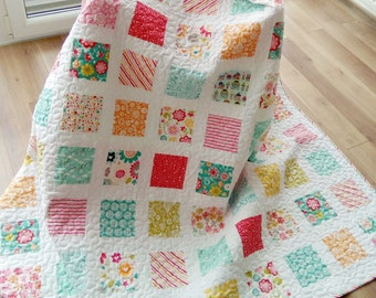 Custom quilt /Twin Quilt / Modern Quilt / Homemade Quilt / Patchwork Quilt / Wedding Quilt / Custom Wedding Quilt