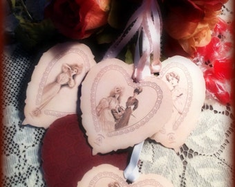 Beautiful Victorian Valentine Tags