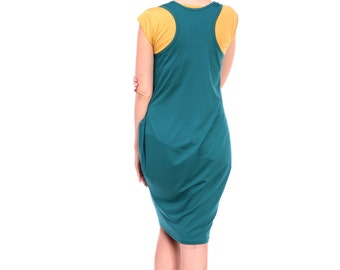 Breastfeeding Dress, Maternity Dress, Nursing Dress, Teal nursing dress, Ocher Nursing Cover, Custom Color Breastfeeding Clothes