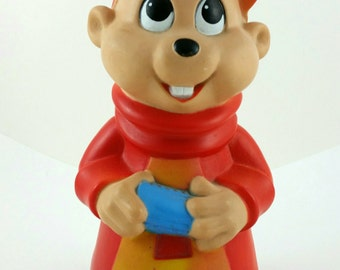 Alvin and the Chipmunks Plastic Piggy Bank from 1984