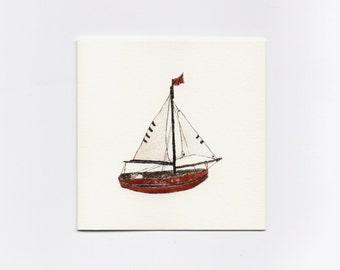 Sailboat Mini Greeting Card