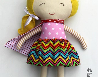 Rag doll toy princess handmade fabric doll clothing toddler girl gift kids game personalized toy customized birthday children
