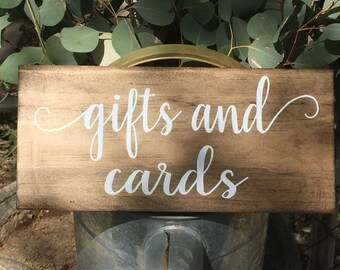 gifts and cards sign - cards sign -  rustic wooden sign - gift table sign -  rustic wedding signage - custom sign -  custom wedding sign