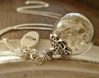 Dandelion Necklace 925 Silver