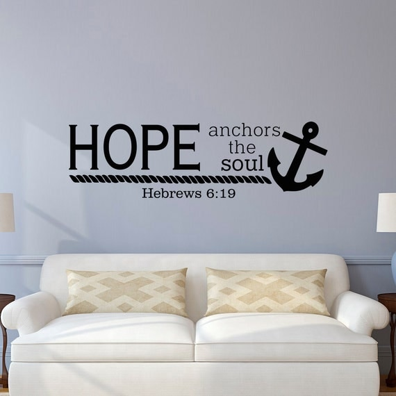 Wall Decor With Bible Verses : Bible verse wall decal hope anchors the soul hebrews