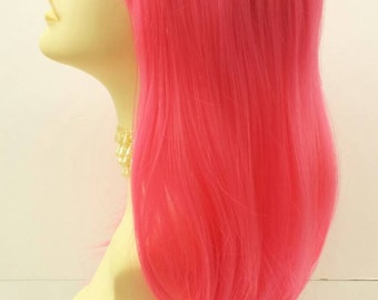 Long 20 inch Straight Pink Wig. Cosplay Wig. Scene Wig. Festival Wig. Straight with Bangs. [17-115-MiaST-Pink]