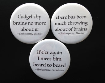 buttons - Shakespeare + brains
