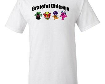 Cubs Bulls Blackhawks Bears, Grateful Dead, Grateful Dead Dancing Bears Shirt, Chicago Sports, Chicago Grateful Dead Shirt