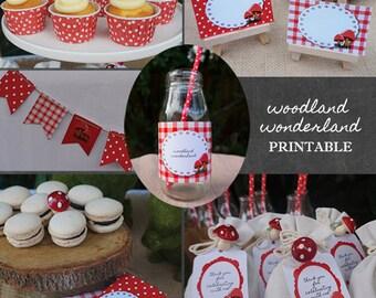 Digital Party Pack | Woodland Wonderland