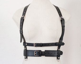 Black Women Leather Harness