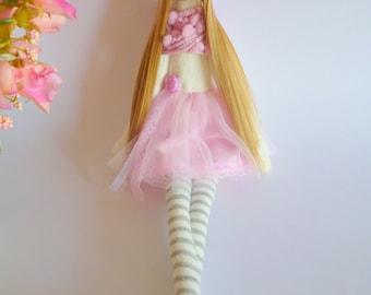 Handmade doll, Tilda dolls, Decorative Doll, Shabby Chic Nursery, Little Girl toys, Shabby Cloth dolls,ballerina doll.Fabric Doll,rag doll