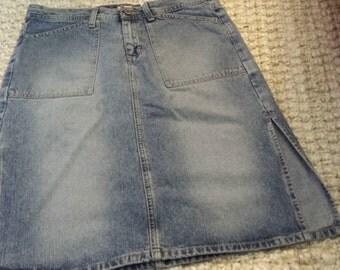 Juniors Vintage Calvin Klein Distress Denim Mini Skirt, size 9