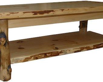 Log coffee table Etsy