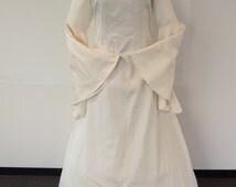 SUPER SALE! medieval wedding dress / celtic wedding dress / fantasy dress / larp dress pagan wedding dress / handfasting dress / renaissance