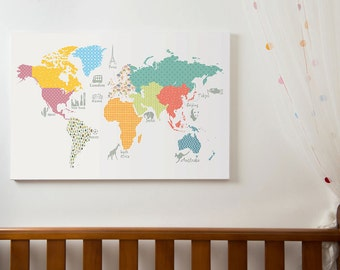 Childrens World Map World Map With Countries World Map - World map for kids room