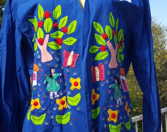 Hand Applique Blue Blazer