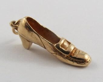 Loafer With Heel 14K Gold Vintage Charm For Bracelet