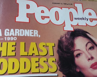 "Ava Gardner ~ ""The Last Goddess"" ~ Vintage People Magazine"