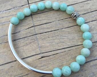 Mint Amazonite Curve Bracelet