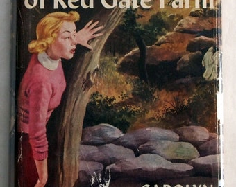 Vintage Nancy Drew Mystery book with original dust jacket: The Secret of Red Gate Farm hardcover juvenile series by Carolyn Keene
