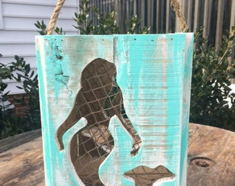 Rustic Mermaid Lantern Candle Holder,Nautical decor,Beach decor,Wedding Decor,Beach themed party decor ,mothers day gift