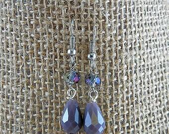Purple Aurora Borealis Dangle Earrings