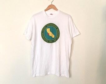 90s PRESIDENT CLINTON at California State Univsersity Monterey T-Shirt, Size XL