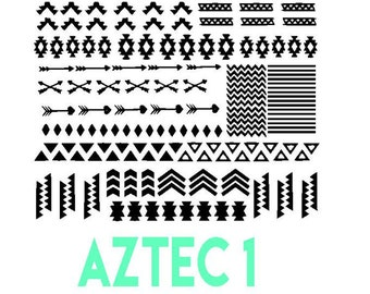 Aztec  Vinyl Nail Stickers.  Ships In 3-5 business days.
