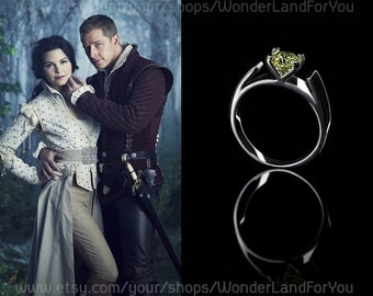 ONCE UPON A TIME // Snow White and Prince Charming // wedding ring // for ouat fans //