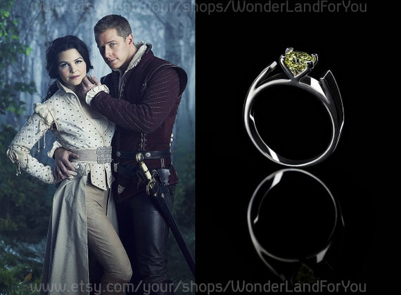 Items similar to once upon a time snow white and prince for Snow white wedding ring once upon a time
