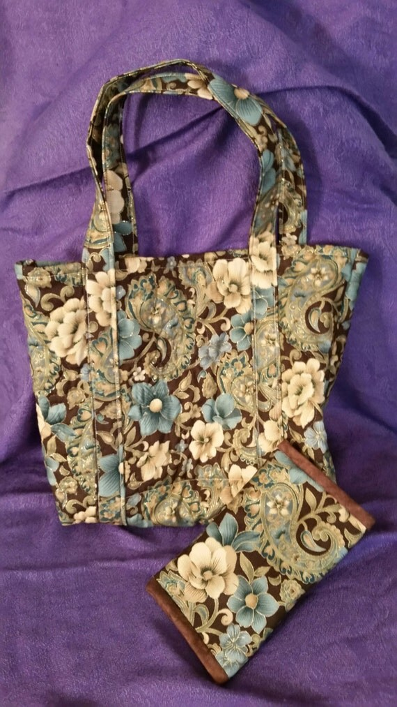 Floral Quilted Bag Floral Tote Bag Floral Book Tote Quilted