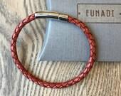 Leather braided bracelet/ men jewelry/ bracelet for men/ Bolo bracelet/ gift for him/ unisex bracelet/ braided leather/ man bracelet