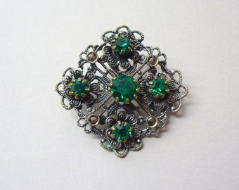 Czech Lace and Emerald Glass