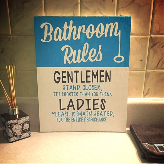 Etonnant Bathroom Rules Wood Sign/Wood Signs/Bathroom Decor/Bathroom/Wall Decor/