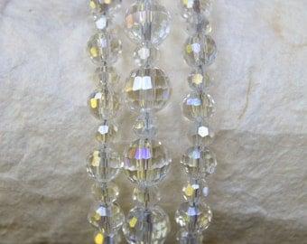 Multi-strand AB Crystal Bracelet, Crystal Bracelet, Crystal Jewelry, Prom Jewelry, Wedding Jewelry, Three Strand AB Crystal Bracelet