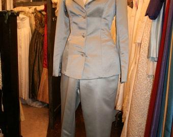 Duchess Satin Trouser Suit 2-piece Ensemble