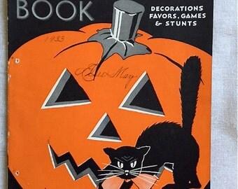 1933 Dennison Halloween Book