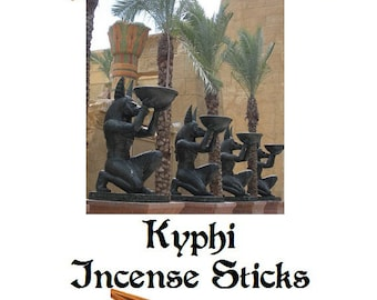 """Kyphi Incense Sticks 11"""" Scented 25 Pack of Hand Dipped 1 Hour Burning Sticks Buy 3 Get 1 Free Mix & Match"""