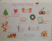 13 Christmas To Do Stickers - Perfect for Erin Condren Planner Stickers / Life Planners / Journals / Stickers.