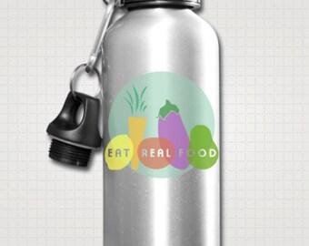 Eat Real Food Aluminum BPA-free Water Bottle